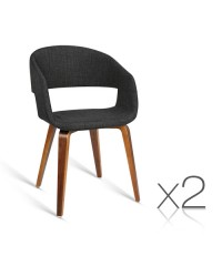 2 x Modern Dining Chairs - Charcoal