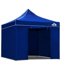 3 x 3 Pop Up Gazebo Hut with Sandbags - Blue