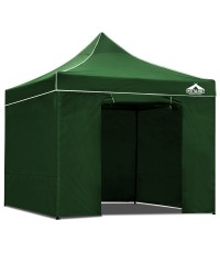 3 x 3 Pop Up Gazebo Hut with Sandbags - Green