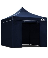 3 x 3 Pop Up Gazebo Hut with Sandbags - Navy