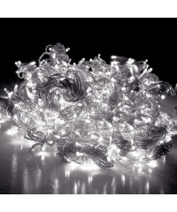 600 LED Christmas Curtain Lights - White