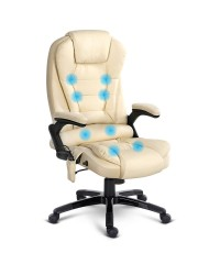 8 Point Executive Massage Office Chair - Beige