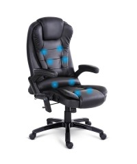 8 Point Executive Massage Office Chair - Black