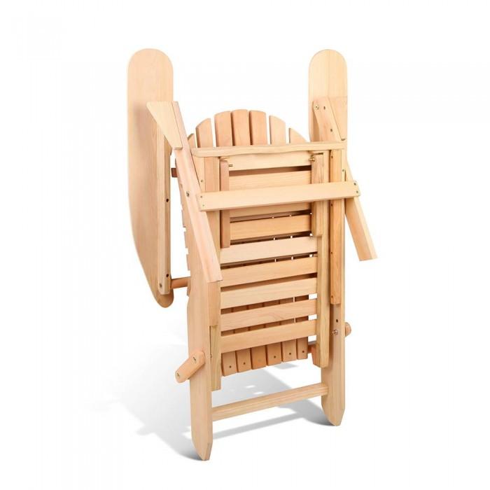 Adirondack 2 X Chairs And Ottoman Set