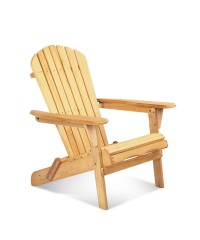 Adirondack Natural Foldable Deck Chair