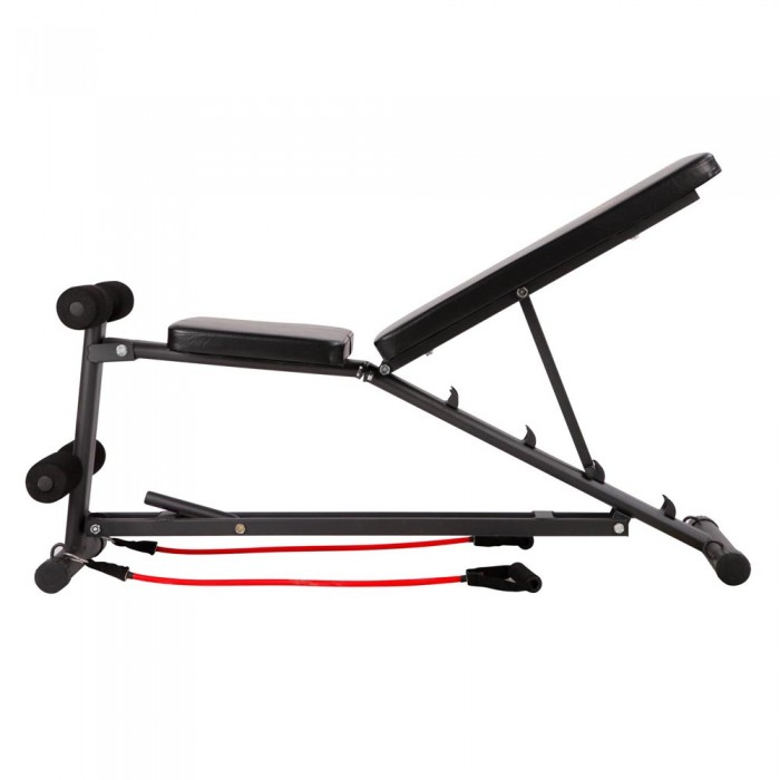 Adjustable fid bench with resistance bands for Ab salon equipment reviews