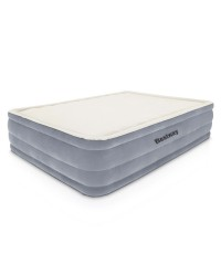Bestway Queen Inflatable Air Bed Mattress with Built-in Pump - Grey