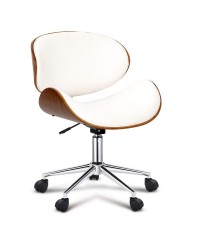 Curved Office Chair - White