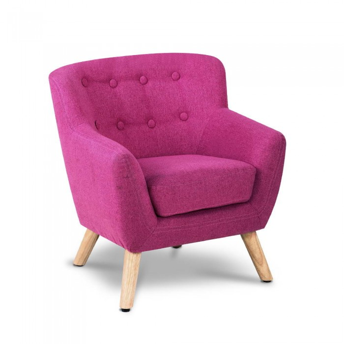Kids armchair pink for Pink kids chair
