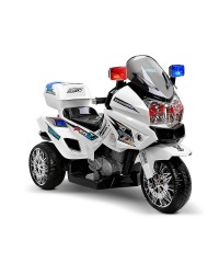 Kids Police Ride on Motorbike - White