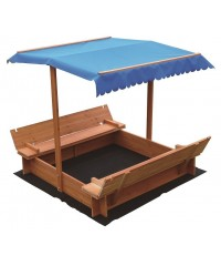 Kids Wooden Toy Sand Pit with Canopy