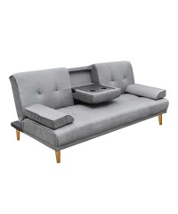 Modern Fabric 3 Seater Sofa Bed