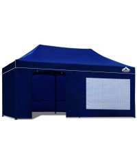 Pop Up 3 x 6 Gazebo Hut with Sandbags - Blue