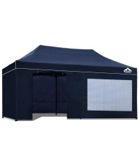 Pop Up 3 x 6 Gazebo Hut with Sandbags - Navy
