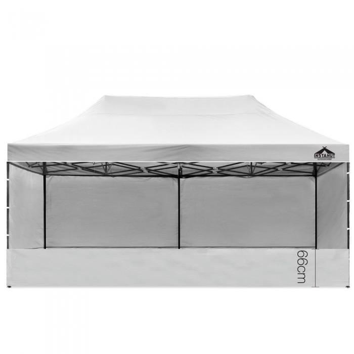 Pop Up 3 X 6 Gazebo Hut With Sandbags White