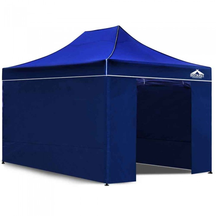 Pop Up Gazebo Hut With Sandbags Blue