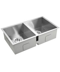 Stainless Steel Double Kitchen Laundry Sink - 770 x 450 mm