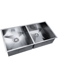 Stainless Steel Double Kitchen Laundry Sink - 865 x 440 mm