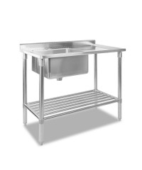 Stainless Steel Sink Bench - 100 x 60cm