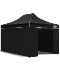 Pop Up Gazebo Hut with Sandbags - Black