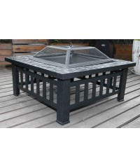 18 Inch Square Metal Fire Pit Outdoor Heater