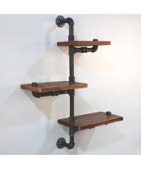 3 Level 84cm DIY Adjustable Metal Bookshelf