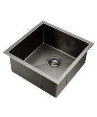 Black Nano Stainless Steel Sink - 440 x 440mm