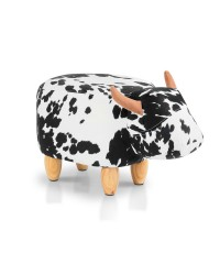 Kids Animal Cow Stool - Black and White