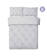King - 3-piece Quilt Set - Grey