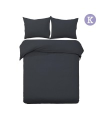 King - Black 3-piece Quilt Set