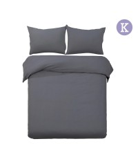 King - Charcoal 3-piece Quilt Set
