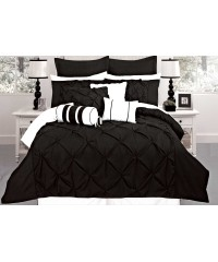 King - Black Diamond Pintuck Quilt Cover Set