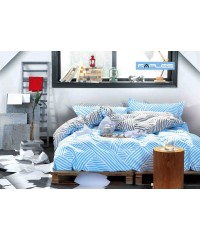 King - Blue Zag Reversible Quilt Cover Set