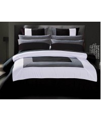 King - Black Grey White Quilt Cover Set