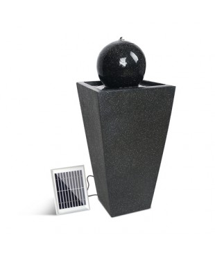 Solar Powered Water Fountain - Black