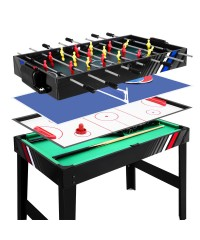 4-in-1 Games Table - Soccer Hockey Table Tennis Pool