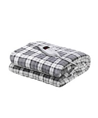 Electric Throw Blanket - Grey and White Checkered