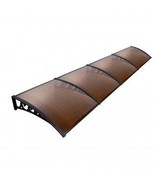 DIY Window Door Awning 1 x 4M - Brown