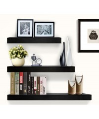 3 pcs Floating Shelf Set - Black