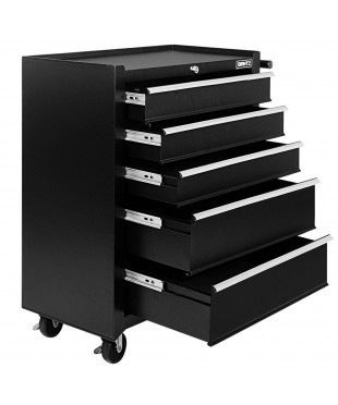 5 Drawers Toolbox - Black