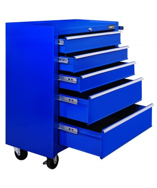 5 Drawers Toolbox - Blue