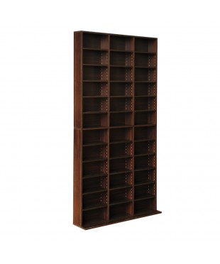 Adjustable CD DVD Book Storage Shelf - Brown
