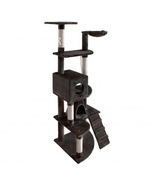 Cat Scratching Poles Tree - Grey