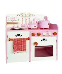 Children Wooden Kitchen Play Set - Pink
