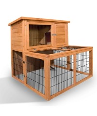 Deluxe Rabbit Cage Hutch