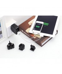 Huntkey TravelMate D204 Multi Plugs USB Wall Charger Adapter