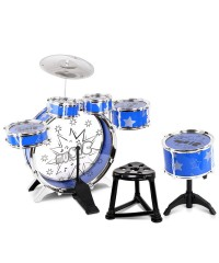 Kids 8 Piece Drum Kit Set - Blue