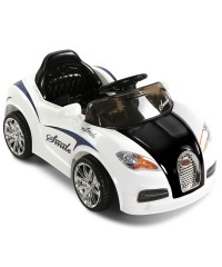 Kids Remote Control Ride on Car - Black White