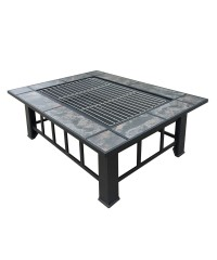 Fire Pit BBQ Table Grill 2 in 1