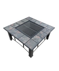 Fire Pit BBQ Table Grill 4 in 1